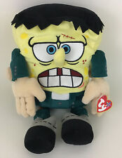 Ty Beanie Buddy Spongebob Squarepants Frankenstein Plush Stuffed Animal Toy Tags