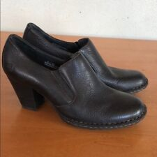 NWB BORN Black Pebbled Leather Mule Booties Size 8 MSRP $110.