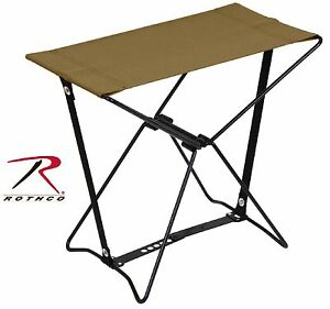 Rothco Coyote Brown Lightweight Foldable Portable Sitting Stool & Carry Pouch