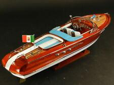 maquette riva bateau Riva Aquarama Crème  87cm entièrement Bois laiton modélisme