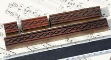 4 X Ornament Wood Letterpress Wooden Printing Blocks Type Ornaments Antique Line