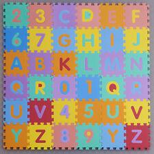 Interlocking EVA Foam Alphabet Letters Numbers Soft Mat Educational Puzzle Kids