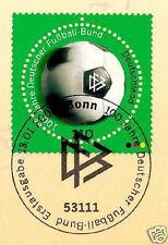 BRD 2000: Deutscher Fußball-Bund 100 Jahre! Nr. 2091 mit Bonner Stempel! 1A! 158