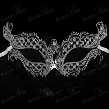 Silver Exotic Elegant Masquerade Ball Party Prom Mask Metal Mask Mardi Gras