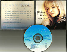 LEANN RIMES How Do I live 5 TRX w/REMIXES & EDITS & CLUB MIX PROMO DJ CD Single