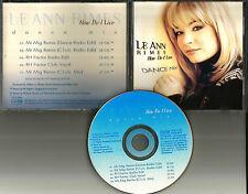 LEANN RIMES How Do I live 5 TRX w/REMIXES & EDITS & CLUB MIX PROMO DJ CD Single