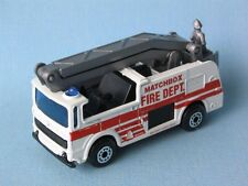 MATCHBOX SNORKEL FIRE ENGINE FIRE DEPT salvataggio giocattolo Bianco modello auto