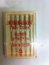 ORGAN DOMESTIC SEWING MACHINE NEEDLES HA X 1SP SUPER STRETCH,SIZE 75/11