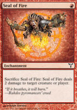 4 Seal of Fire ~ Near Mint Dissension 4x x4 Playset UltimateMTG Magic Red Card