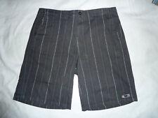 "NWOT Mens 38 40"" Waist Oakley GREY Subtle Stripe Casual/Golf Shorts 23"" Long"