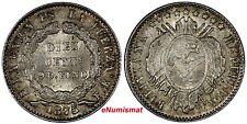 BOLIVIA Silver 1875 FE 10 Centavos DIEZ/CENTs/9D. FINO KM# 158.2