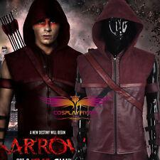 Green Arrow Season 3 Roy Harper Red Cosplay Costumes Jacket Arrow Bag Belt