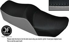 BLACK AND GREY VINYL CUSTOM FITS KAWASAKI Z 550 LTD DUAL SEAT COVER ONLY