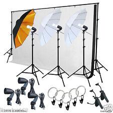 Photo Video Studio Lighting Photography Backdrops Stand Muslin Light Kit LK366
