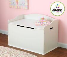 Kidkraft Austin Wooden Toy Box in Vanilla | Kids Wooden Toy Chest | Kids Storage