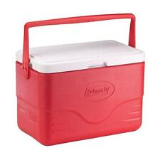 Coleman Cooler 28 Qt. Chest Ice Box Storage Bail Handle Red Outdoor Camping