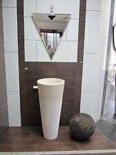 Natursteinwaschbecken Naturstein rund beige Säule poliert unikat Waschbecken
