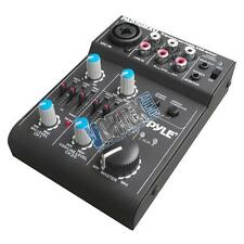 New Pyle PAD20MXU 5 Channel Professional Compact Audio Mixer With USB Interface