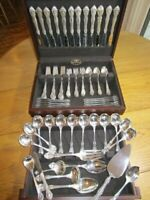 GORHAM KING EDWARD STERLING SILVER FLATWARE SET S-12+SERVERS*81P*EXCL*FREE SHIP*
