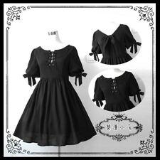 Harajuku Vintage Gothic Lolita Punk Sister Cool Princess Bowknot Dress#H-326