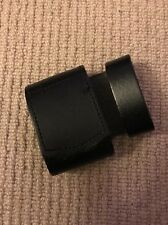 Ex Police Black Leather Belt Buckle Protector. Used. Box47.