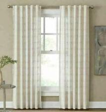 "Cambria Santorini 84"" Rod Pocket/Back Tab 1 Window Curtain Panel in Natural"