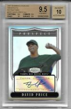 DAVID PRICE 2007 BOWMAN STERLING BGS 9.5 GEM RC AUTO REF 24/199 Jersey # 1/1
