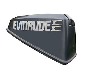 2 x Evinrude Decals for motor cover (motor cover not included).