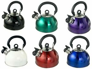 Buckingham Stainless Steel Whistling Stovetop Camping Kettle 2.5 L