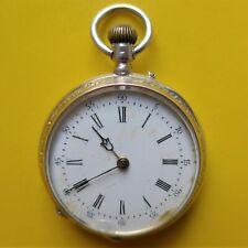 """DAMEN TASCHENUHR, Silber-0,800, Zylindergang, """"10 rubis"""", gute Funktion, ca.1900"""
