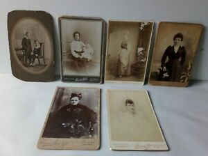 Collection Of Victorian Women & Children CDV Photo Cards
