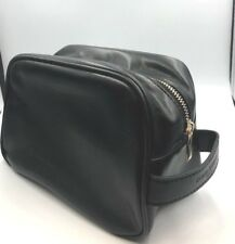 Dolce & Gabbana Mens Black Leather  Toiletry Bag Travel Cosmetics Case
