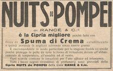 W7326 Cipria NUITS DE POMPEI - Pubblicità del 1932 - Old advertising