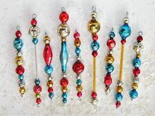 Vintage Mercury Glass Bead Icicle Ornaments Christmas Garland PATRIOTIC