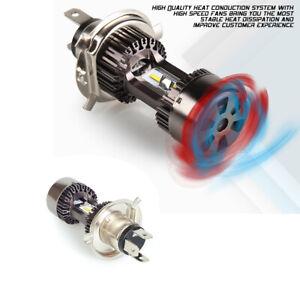 Motorcycle LED High Low Beam Headlight H4 White 6000K 30W DRL Fog Driving Light