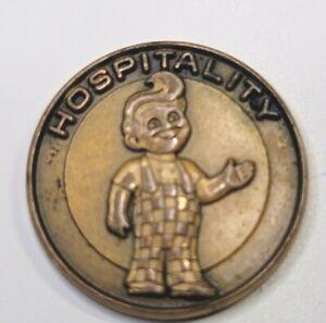 VINTAGE RARE BRASS? BOB'S BIG BOY HOSPITALITY  Pin / Tie Tack