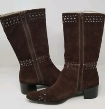 ff73535c58e Newport News Brown Suede Studded Boots -Womens Size 9
