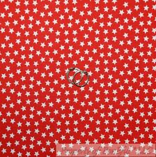 BonEful Fabric Cotton Quilt Red White STAR Super Hero Boy Old Small Little SCRAP