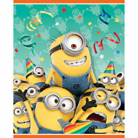 16 Despicable Me Minion Favor Goody Bags Birthday Treat Loot Sacks Party Supply