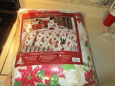 C & F Enterprises Holly and Poinsettia King Comforter + 2 Shams Set Nip