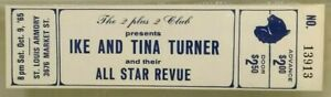 Ike and Tina Turner & their All Star Revue Unused Concert Ticket 1965 St. Louis