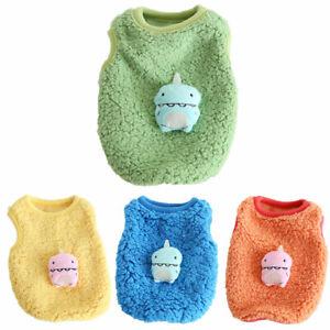 Newborn Small Pet Dog Vest Coat Clothes Cute Warm Dinosaur Puppy Cat Shirt Tops