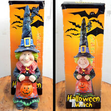 "30"" GLITTER WITCH GNOME HALLOWEEN DECORATION rare Costco yard decor prop pumpkin"