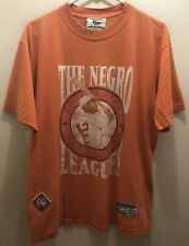 """True Vintage 1990 """"The Negro Leagues� Tshirt-Official Mdse.Two Sided-Orange-Lg"""