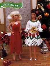 NEW CHRISTMAS PARTY FASHION DOLL DRESS PATTERNS