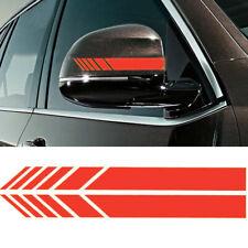 Car Accessories Rearview Mirror Carbon Fiber 5D Sticker Vinyl Stripe Decal Pairs