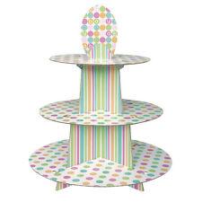 BABY SHOWER Pastel Polka Dots CUPCAKE SERVER ~ Party Supplies Holder Treat Cake
