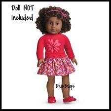 NEW Retired American Girl Flower Sweater & Skirt Shoes Headband