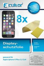 8x ecultor Apple iPhone 6 plus 5,5 pulgadas clara protector de pantalla crystalclear