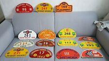 Vintage rallye plates
